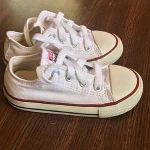 White Toddler Converse Sneakers